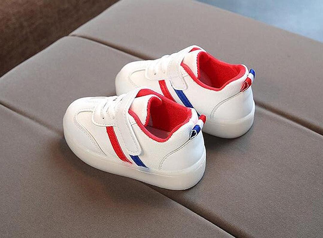 Zapatillas Ni/ño JiaMeng Zapatos Zapatillas de luz de Colores para Beb/és Zapatillas de Deporte Transpirables Antideslizante para Ni/ña Ni/ño