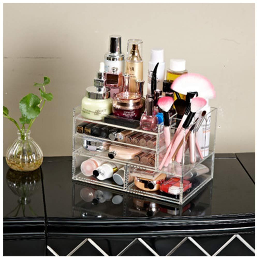LJQHS Scrub Acrylic Cosmetic Storage Box, Jewelry Necklace Desktop Drawer Box, Beauty Tools Finishing, Beauty Box Storage, Beauty Storage Box, Beauty Storage Organizer Box,-Transparent1