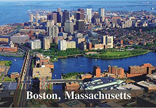Boston, Massachusetts, City Skyline, MA, Souvenir Magnet 2 x 3 Photo Fridge ()