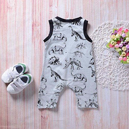 Fineser TM Infant Toddler Baby Girl Boy Dinosaur Sleeveless Romper Jumpsuit Kids Clothes