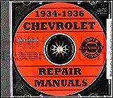 1934 1935 1936 CHEVROLET REPAIR SHOP & SERVICE MANUAL CD INCLUDES: Standard series DC, EC & FC, Master Deluxe series DA, ED/EA & FD/FA, Sedan Delivery, DB, EB, FB, FD & FC trucks like Suburban, all half ton and 1.5 ton trucks CHEVY