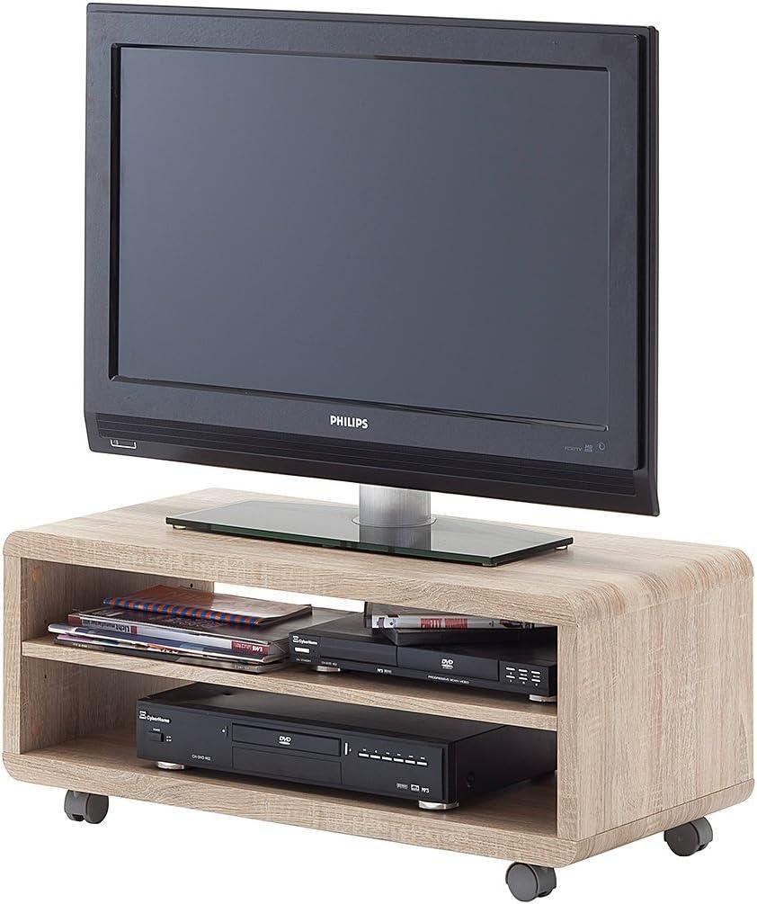Robas Lund Jeff 7 Tablero de televisión, MDM, Madera de Roble aserrada, B/H/T: ca. 79 x 35 x 39 cm: Amazon.es: Hogar