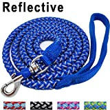 #6: Mycicy 6 ft Reflective Blue Dog Leash, Best Nylon Braided Rope Dog Leash Strong Heavy Duty Dog Leash for Small Medium Large Dogs Walking Leash(Blue 6ft)