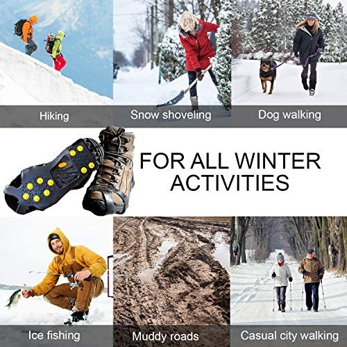 Limm Crampons Ice Traction Cleats Large - Lightweight Traction Cleats for Walking on Snow & Ice - Anti Slip Shoe Grips Quickly & Easily Over Footwear - Portable Ice Grippers for Shoes & Boots
