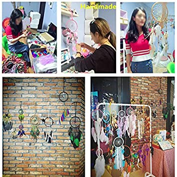 IEVE Handmade Medium Large White Dream Catcher Decor Wedding Feather For Kids Wall Hanging Decoration-Approx 26 Dream Catcher 60-65Centimeter