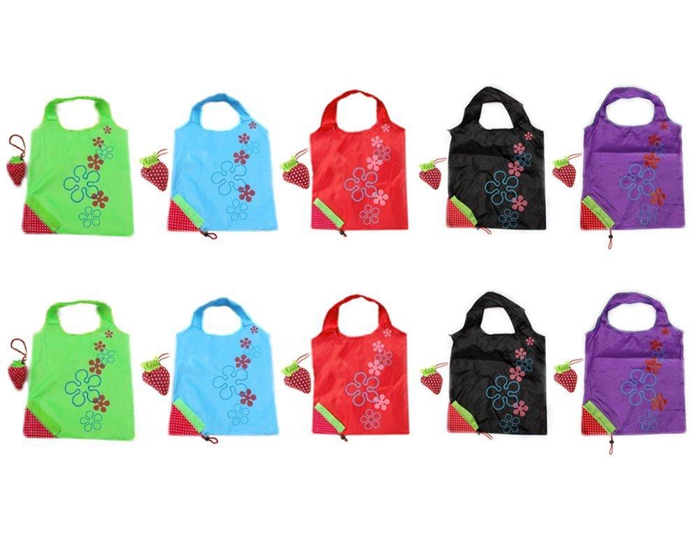 BONAMART ® 10 Newly Assorted Colors strawberry Reusable Foldable ...