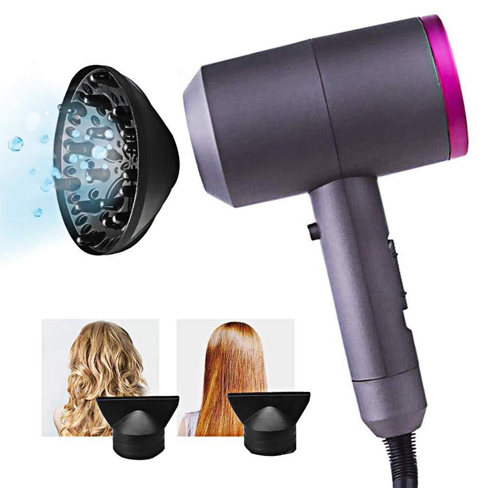 Ionic Hair Dryer with Diffuser, Constant Temperature Not Hurting Hair Ionic Hammer Hair Dryer 1600W Negative Ionic Hairdryers Hair Care Hair Dryers by Le-Home