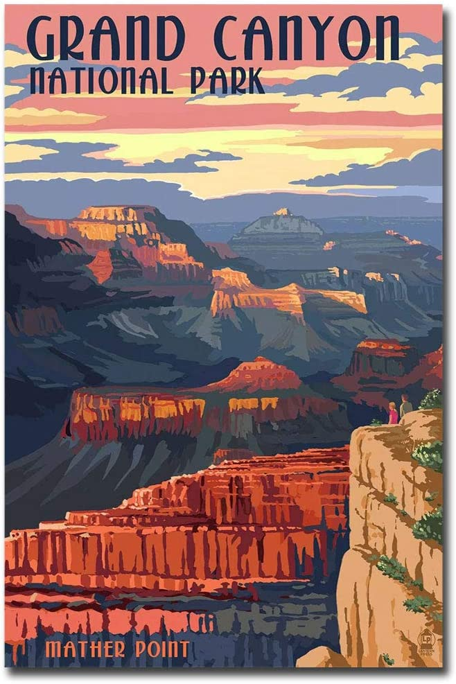"Grand Canyon National Park Travel Vintage Art Refrigerator Magnet Size 2.5"" x 3.7"""