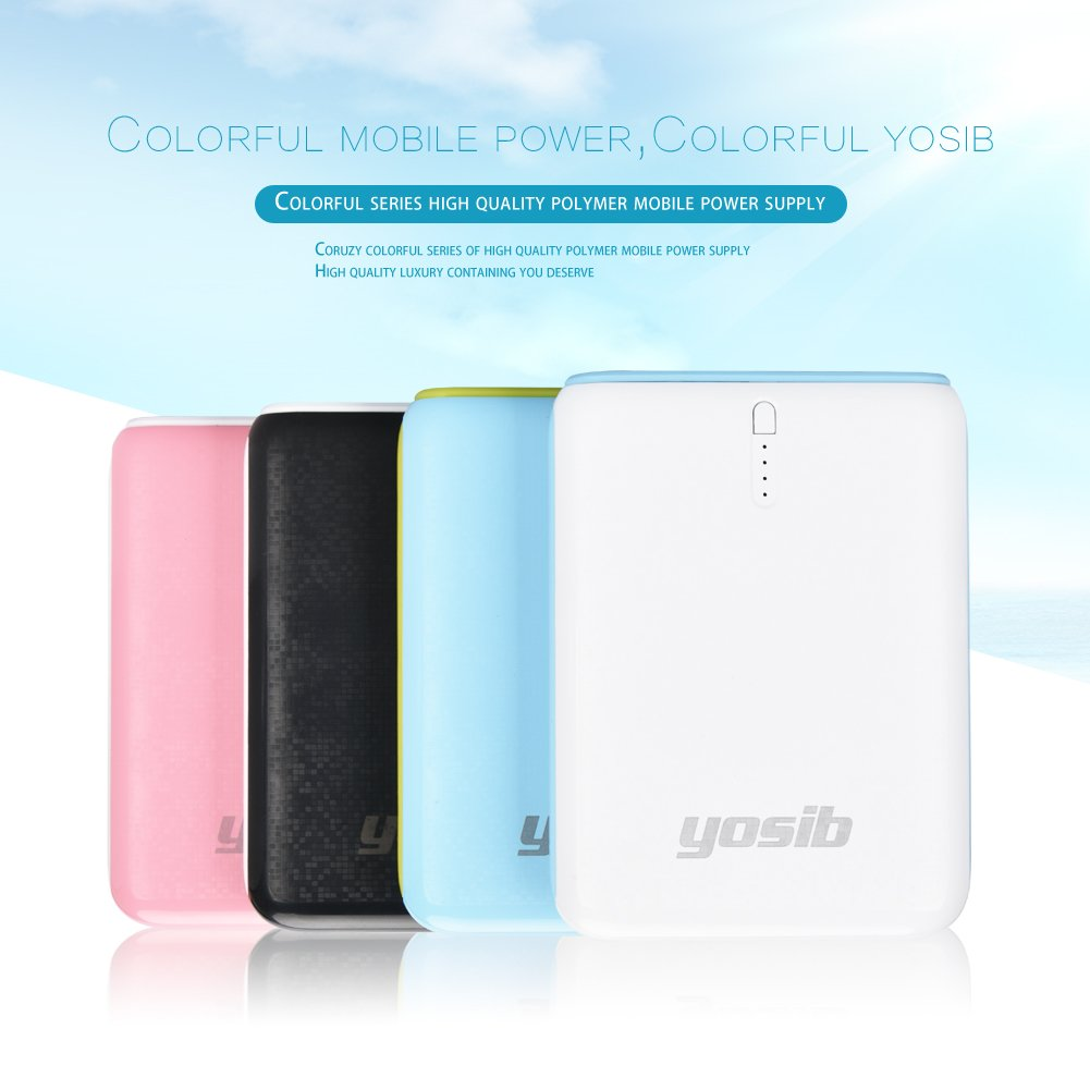 Portable Phone Charger 10000mAh Flashlight External Battery Charger, High-Speed Travel Charger and Dual USB Ports for iPhone Samsung Galaxy and more. (White)
