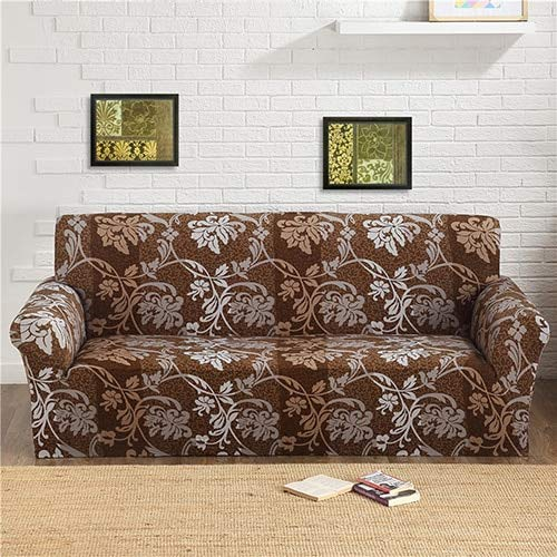 1pcs Flower Leaf Pattern Soft Stretch Sofa Cover Home Decor Spandex Furniture Covers Decoration Covering Hotel Slipcover 002   D, one seat