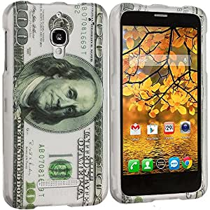 Accessory Planet(TM) Hundred Dollars 2D Hard Snap-On Design Rubberized Case Cover Accessory for Alcatel One Touch Fierce 7024W