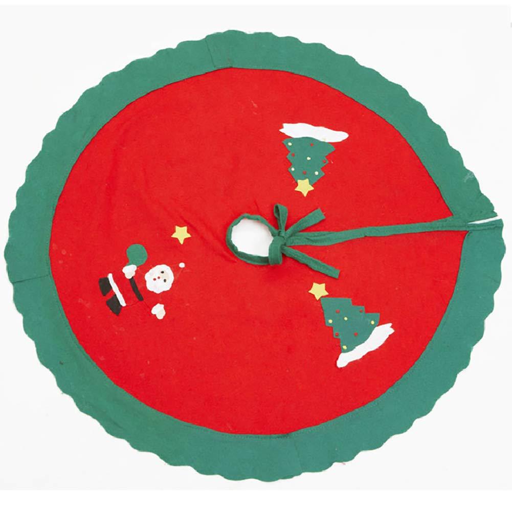 Kakakooo Coperchio della Base 1pc Chiristmas Albero Gonna Xmas Tree Decor Grembiule Wrap 35 Pollici per Natale Decor (Santa)