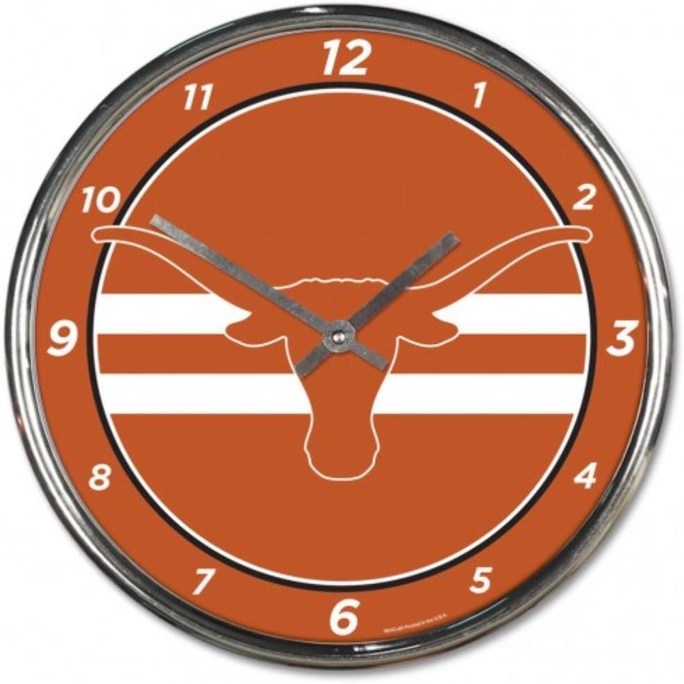 NCAA Texas Longhorns WinCraft Official Chrome Clock