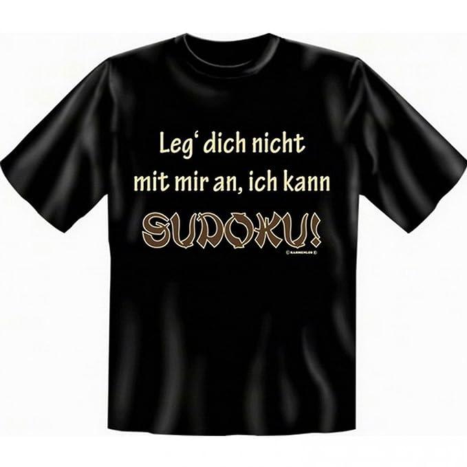 T-Shirt fürs Gehirn Training - Leg dich nicht mit mir an, kann Sudoku - Funshirt  Set inkl. Minishirt als Geschenk Idee: Amazon.de: Bekleidung