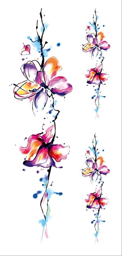 CCWL Moda Creativa Flor Brazo Tatuaje Colorido Tatuaje Cuerpo Arte ...
