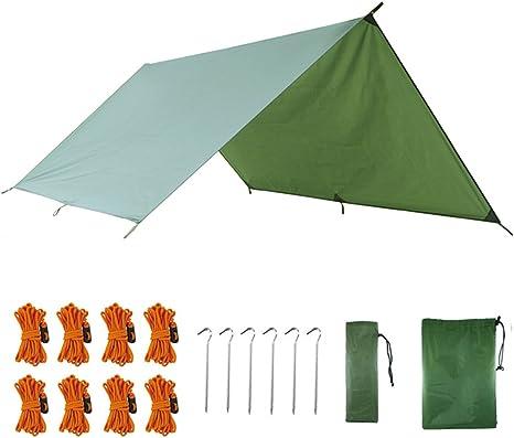 AUTFIT Toldo Camping Impermeable, Lona Suelo Protector Anti-Viento Toldos para Playa Tienda Hamaca Acampada Refugio Al Aire Libre