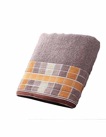 Toalla de algodón Simple Absorbente Toallas Suaves Grandes 140 * 70 cm Otoño e Invierno Toalla
