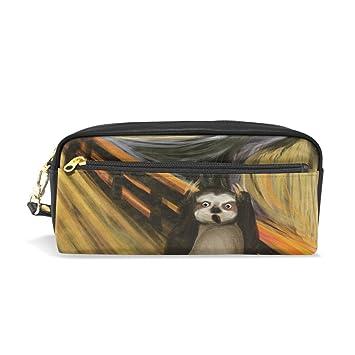 Estuche, perezoso pluma bolsa Maquillaje bolsa cartera gran capacidad impermeable Lovely de los estudiantes o mujeres: Amazon.es: Oficina y papelería