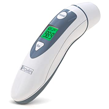 Medical Ear Thermometer with Forehead Function - iProven DMT-489 - Upgraded Algorithm 2017