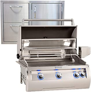 """product image for Fire Magic Echelon Diamond E660i 30"""" Natural Gas Grill w/Analog Thermometer and Made in USA 30"""" Best of Backyard Combination Door/Drawer"""