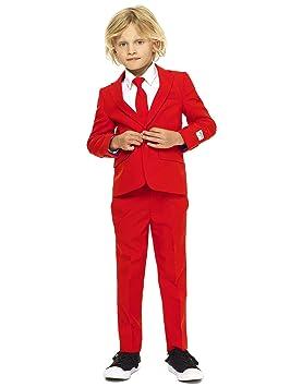 Generique - Traje Mr. Rojo niño Opposuits 2-4 años(92-98 cm)