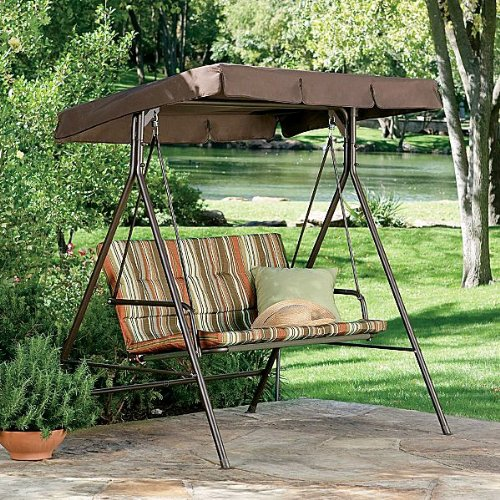 Garden Winds JCP 2-Person Swing Replacement Canopy Top Cover by Garden Winds