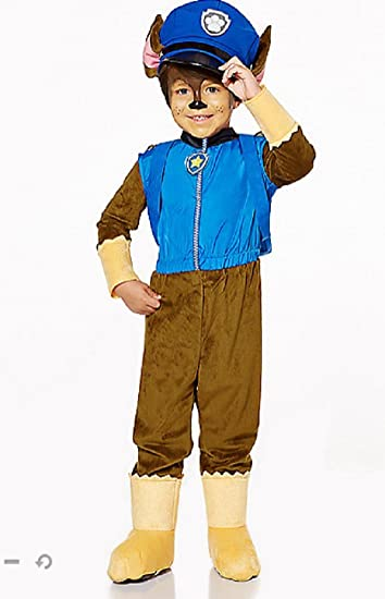 nickelodeon paw patrol exclusive chase boys child halloween costume small 4 6
