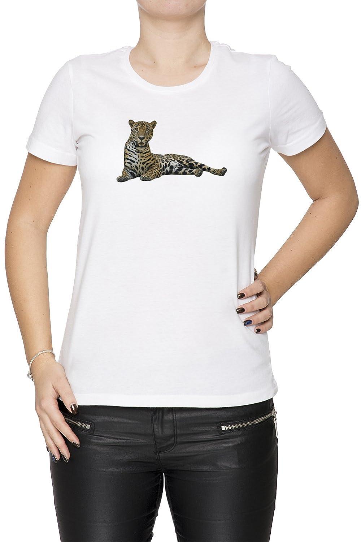 Jaguar Wei Baumwolle Damen T-Shirt Rundhals Kurzarm White Women's T-shirt