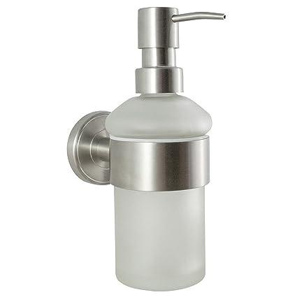 Serie de baño Ambiente - Dispensador de jabón | acero inoxidable y cristal | montado en