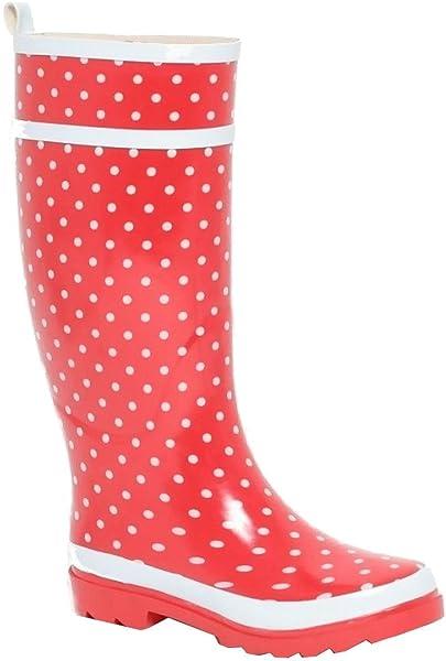 36 Gummistiefel Damen Regenstiefel Rockabilly Punkte Dots Rot Stiefel Regengummistiefel Gr nPkXZN0w8O