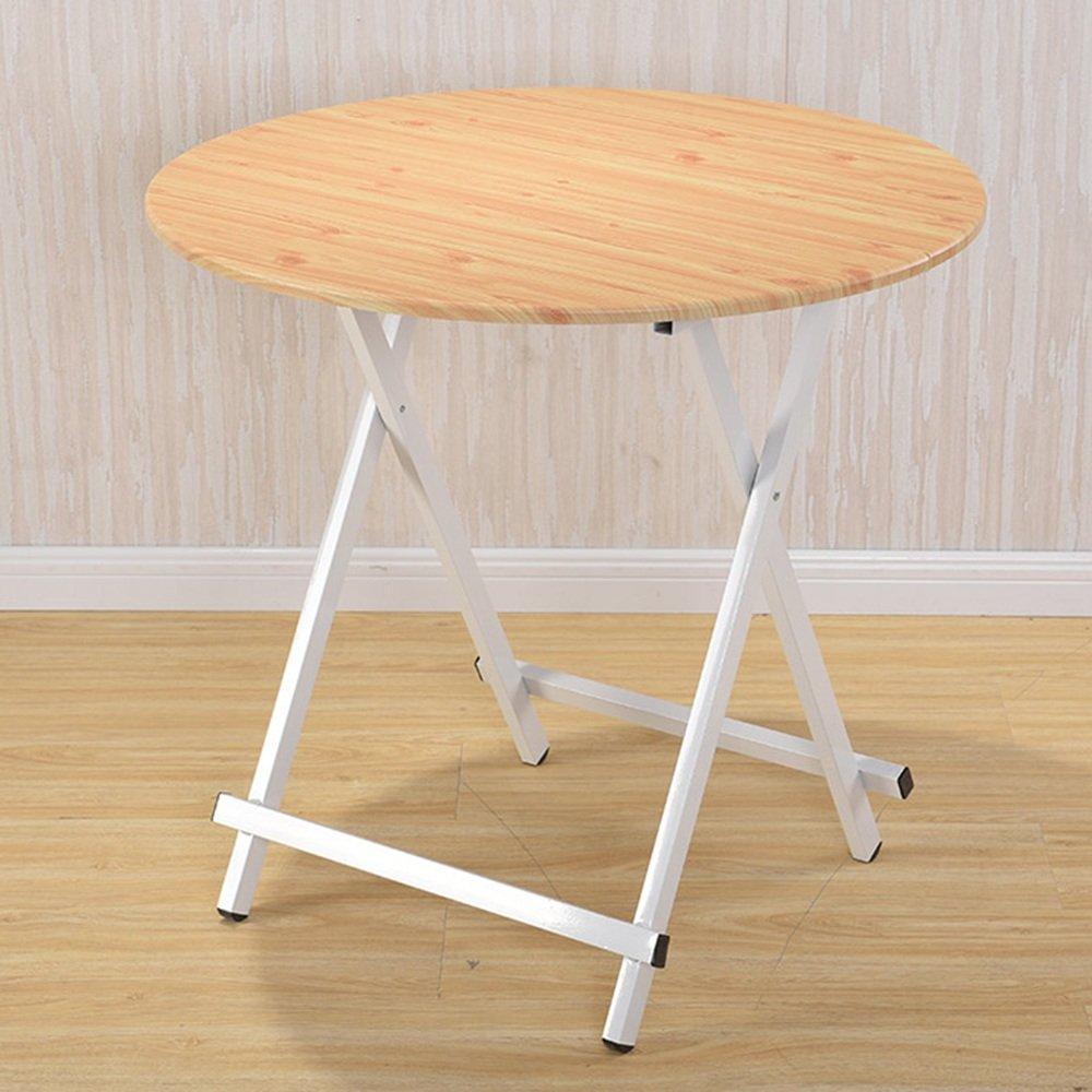 マルチカラーオプション、ラウンド折り畳みテーブル、ダイニングテーブル、学生テーブル、 ## (色 : Dark wood grain, サイズ さいず : 60*55cm) B07K21L4CW 60*55cm|Dark wood grain Dark wood grain 60*55cm
