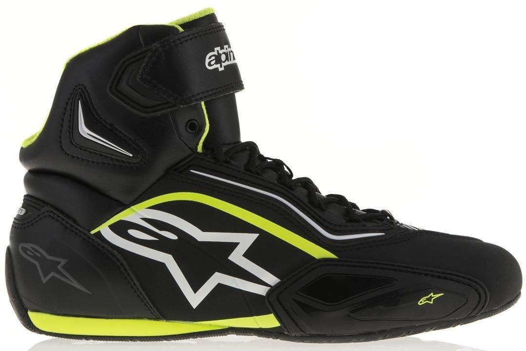 Motorcycle Alpinestars Faster-2 Shoes Black White 42 US09 UK