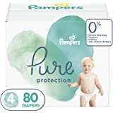 Diapers Size 4, 80 Count - Pampers Pure Disposable Baby Diapers, Hypoallergenic and Unscented Protection, Giant Pack