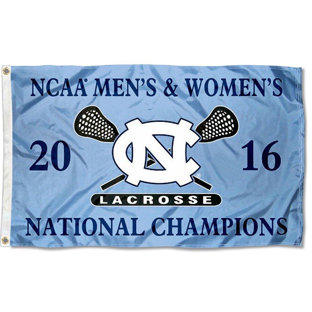 North Carolina Tar Heels Men's and Women's Lacrosse Champs Flag