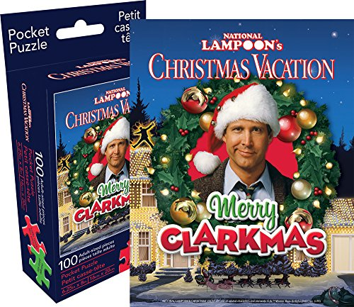 Aquarius Christmas Vacation 100 Piece Adult Pocket Jigsaw Puzzle