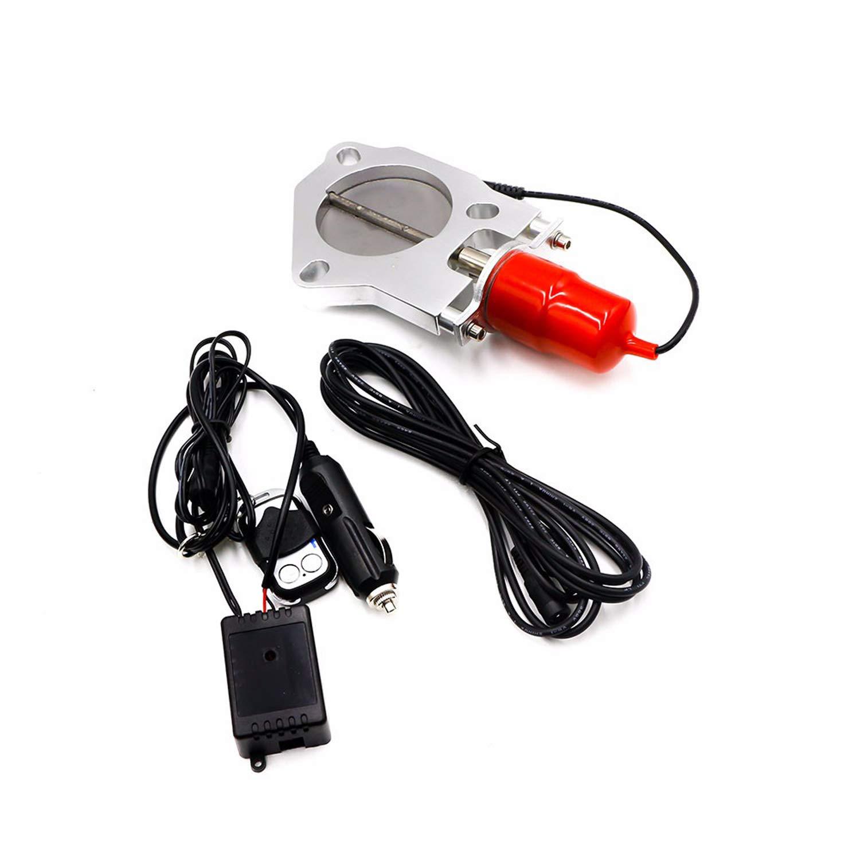 Lasamot Universal Car 2oder 2,25 oder 2,5oder 3 Elektro-Edelstahl-Auspuff-Auslassventil//Schalter mit Fernbedienung