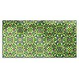 Oriental Mosaic Rectangle Tablecloth: Medium Dining Room Kitchen Woven Polyester Custom Print