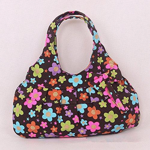 MiCoolker(TM) Women's Ribbon Print Skirt Colorful Handbag Canvas Bag Fashion Cute Sweet Packet Portable Small Cloth Bag