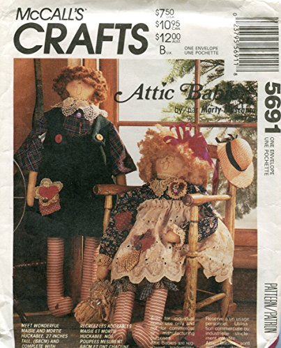 McCall's Attic Babies Craft Pattern 720 and 5691 ~ Maisie & Mortie Huckabee 27