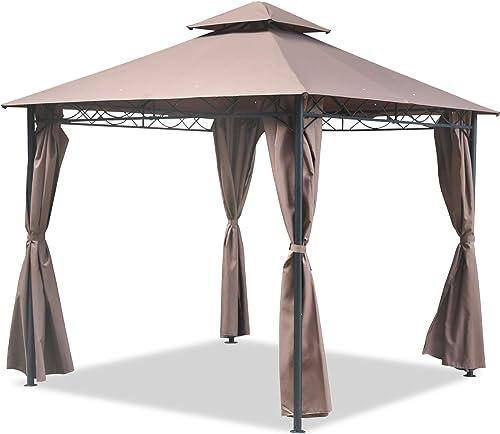 FDW Gazebo Canopy Tent 10' X 10' BBQ Outdoor Patio Grill Gazebo