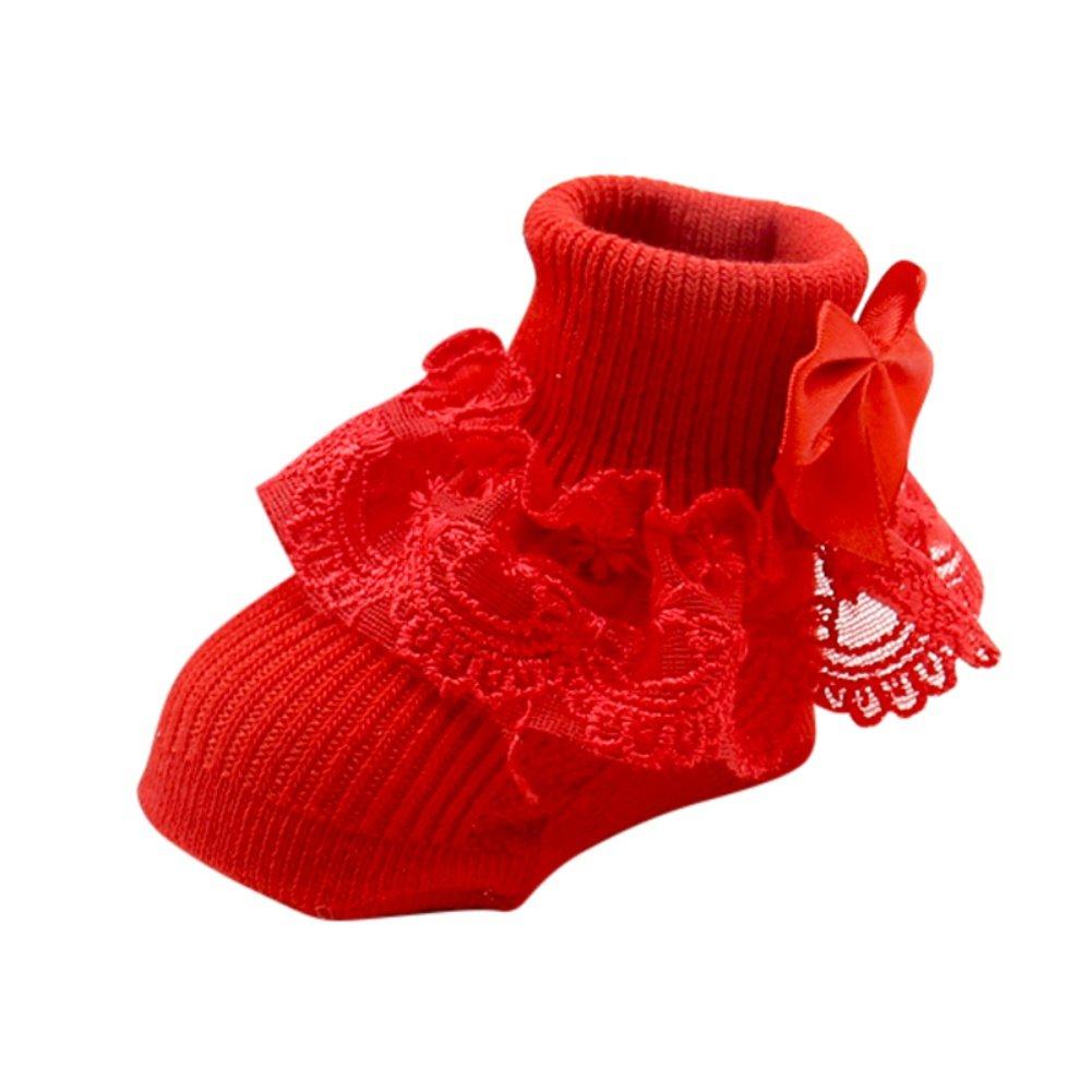 BOBORA Infants Newborn Baby Cotton Ankle Socks Toddler Warm Bowknots Socks