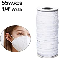 0.12 inches Elastic bands for sewing 55-Yards Length 1//8 Width Braided Elastic Cord//Elastic Band//Elastic Rope//Bungee//White Heavy Stretch Knit Elastic Spool