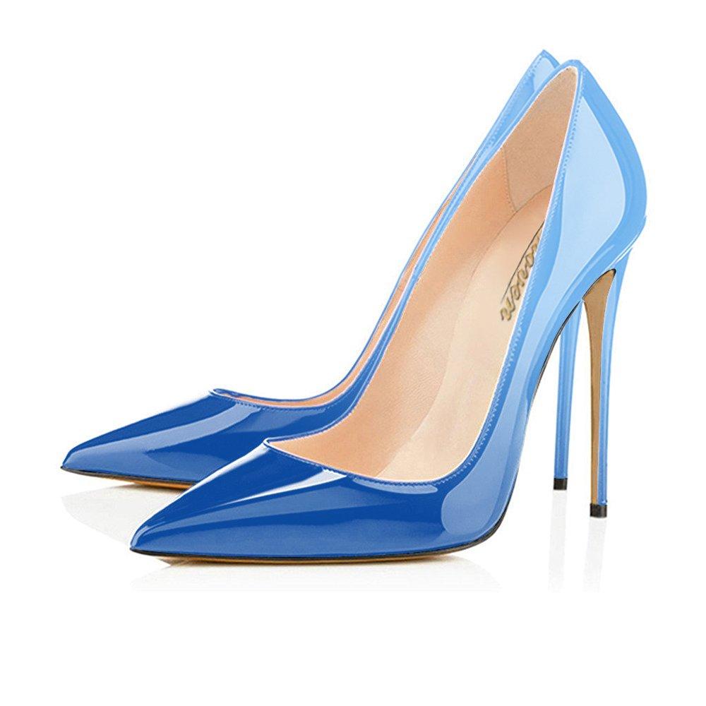 6b6de8333 ... Modemoven Women s Slip Pointy Toe High Heels Slip Women s On Stilettos  Large Size Wedding Party Evening ...