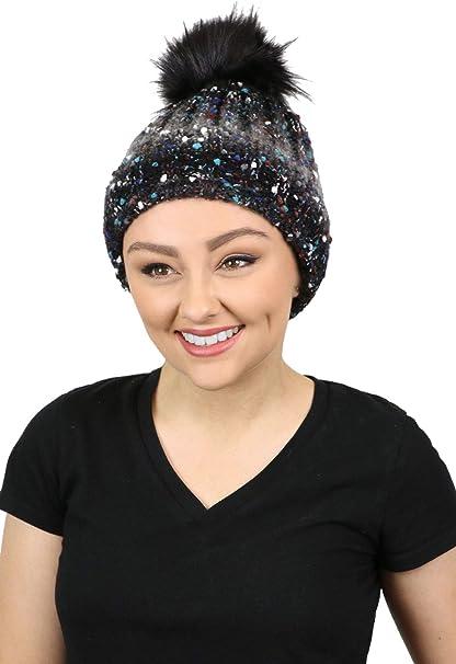 Knit Beanie Winter Hat for Women Pom Pom Cancer Headwear Chemo Ladies Head Coverings