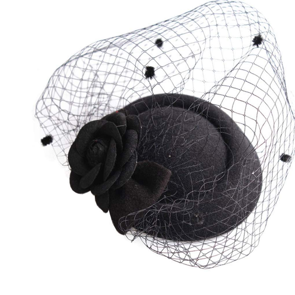 JYDIY Mesh Veil Fascinator Headwear Wedding Bridal Party Cocktail Hat