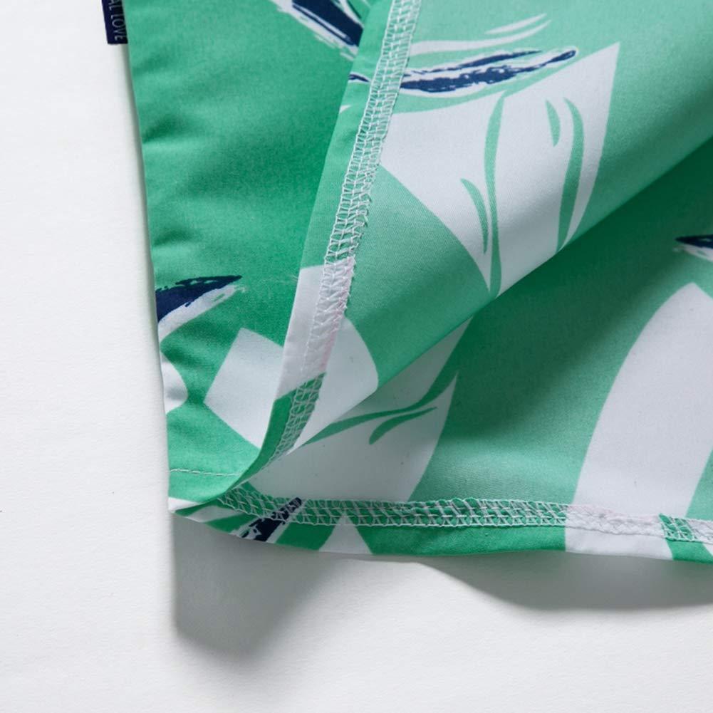 Color-as-shown1,5XL Mens Hawaiian Printed Shirt Men Summer Beach Thin Casual Shirt Loose Shirt