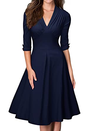 Amazon rockabilly kleid blau