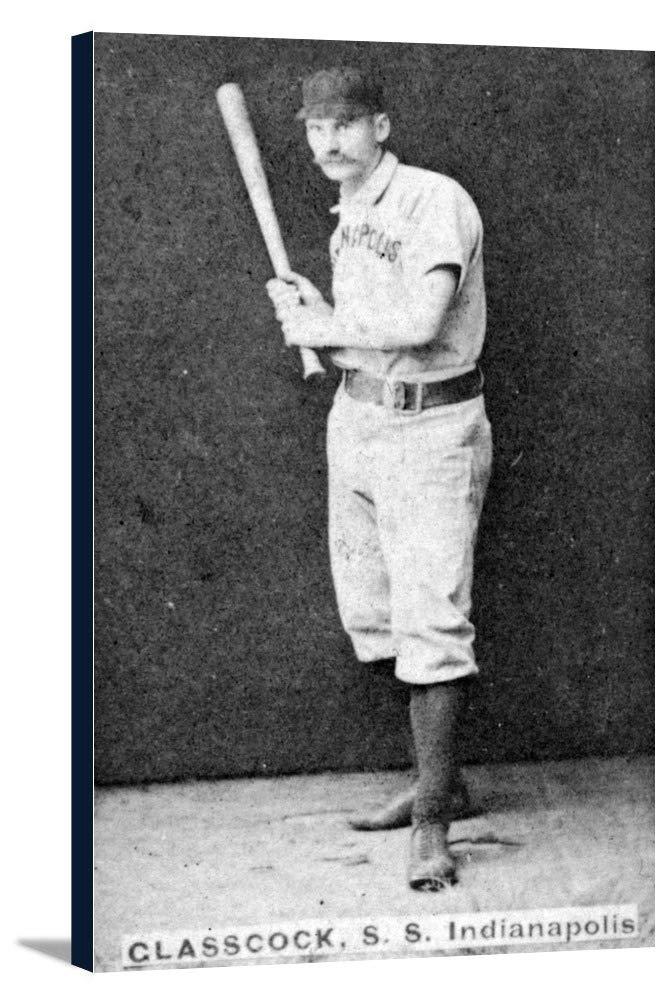インディアナポリスHoosiers – ジャックGlasscock – 野球カード 22 3/8 x 36 Gallery Canvas LANT-3P-SC-22453-24x36 22 3/8 x 36 Gallery Canvas  B0184AHNL6