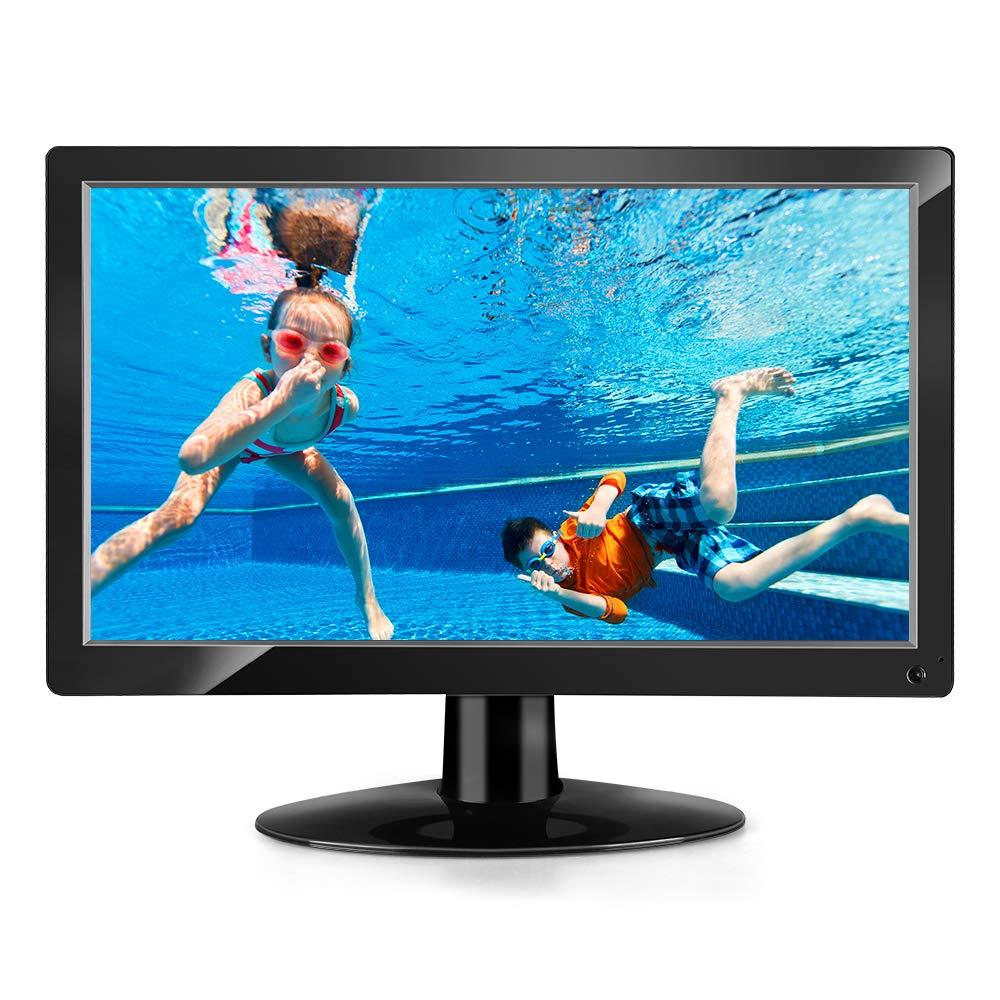Eyoyo 15.6'' inch HDMI Monitor 1920x1080 IPS LCD Big Screen with HDMI/AV/VGA/BNC/USB Input PC Monitor Security Monitor VESA 75 Wall Mount & Remote Control