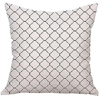FORUU Throw Pillowcase, Square Cushion Pillow Case Covers Toss Pillowcase Hidden Zipper Closure